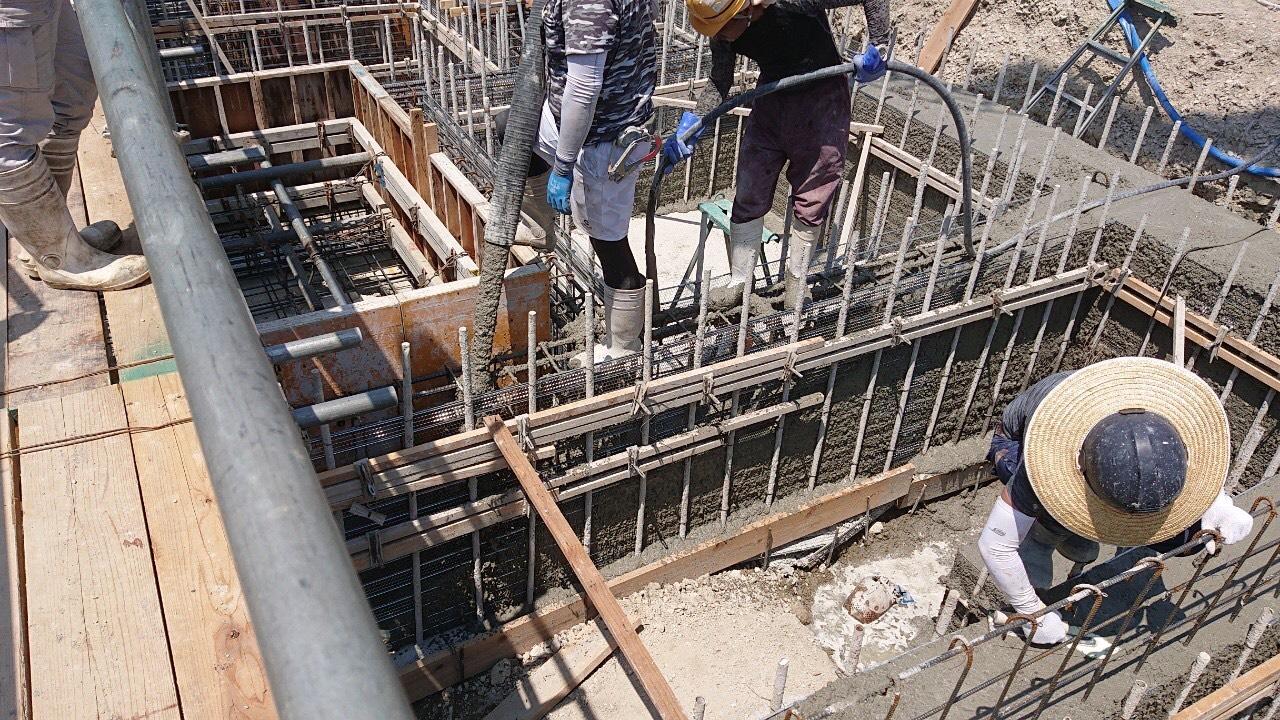 大阪府堺市北区北花田町 ラス型枠と在来型枠の併用の工法