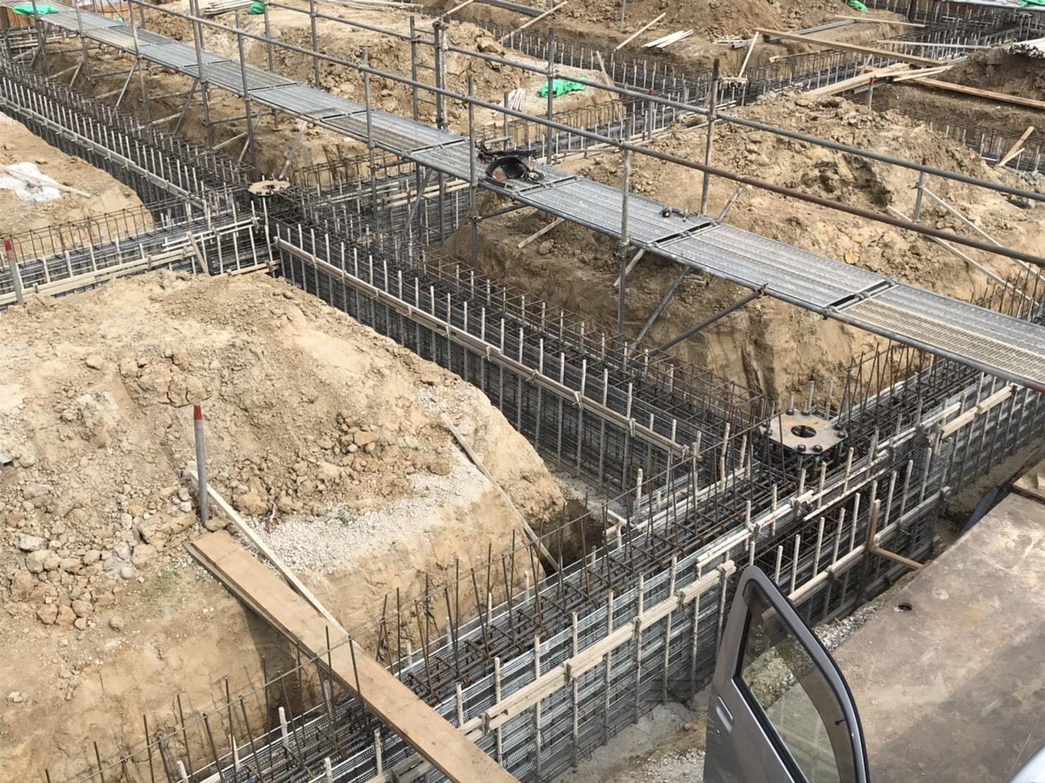 サンドラッグ東住吉区今川店基礎工事完成